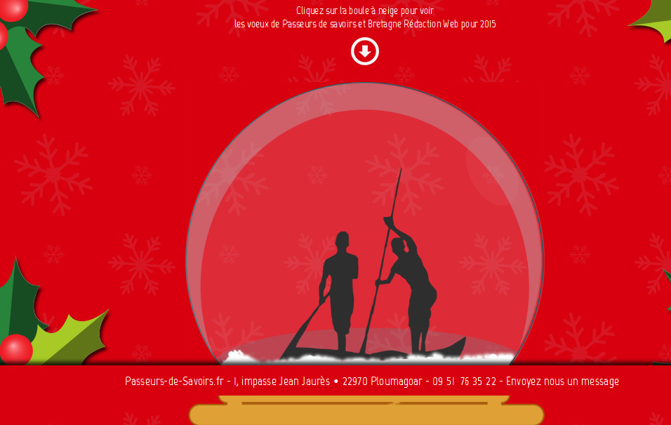 Passeurs de savoirs et Bretagne rédaction Web vous présentent leur voeux pour 2015